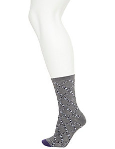 Animal argyle & blocked crew socks 2-pack