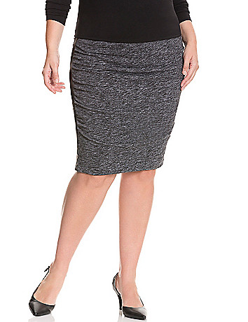 Slimming ruched skirt by Lane Bryant