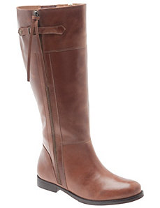 Florentina leather side zip riding boot