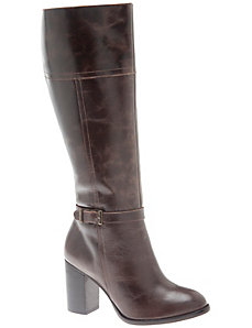 City heel leather dress boot