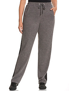 Mesh overlay sweatpants