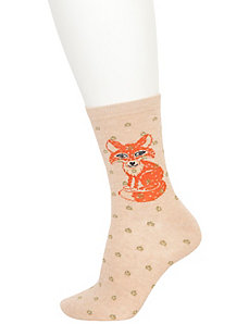 Fox & solid crew socks 2-pack