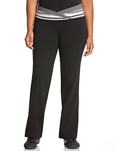 Striped V waist yoga pant