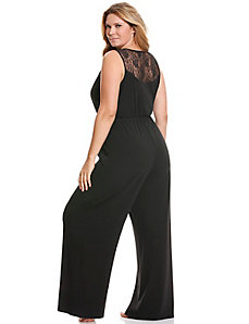 Tru to You lace back jumpsuit