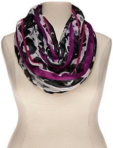 Animal print infinity scarf