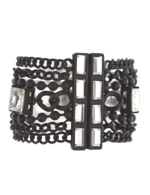 6th & Lane stone chain bracelet