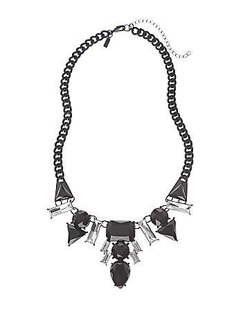 6th & Lane stone bib necklace