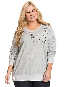 Embellished sweatshirt by DKNY JEANS