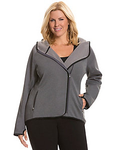 Fleece asymmetric active jacket