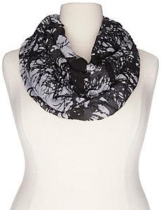 Tree print infinity scarf