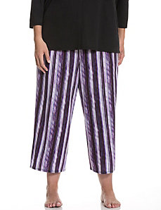 Digital stripe cropped sleep pant