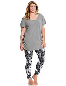 Tunic & animal legging PJ set by Cacique
