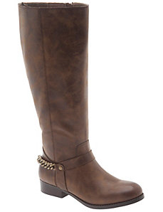 Chain back riding boot