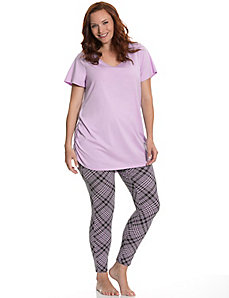Tunic & plaid legging PJ set
