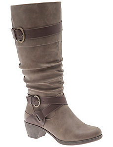 Two-tone riding boot