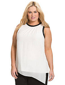 Chiffon overlay top by DKNY C