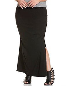 Shirred maxi skirt by DKNY C