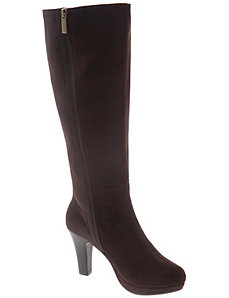 Stretch back dress boot