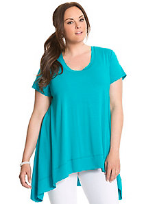 Short sleeve draped top by Lysse