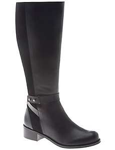 Alessandra leather & suede riding boot