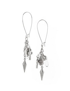Charm cluster earrings by Lane Bryant