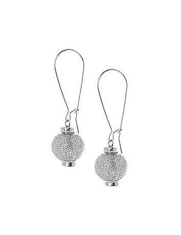 Mesh ball A-wire earrings by Lane Bryant