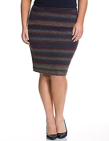 Space dye sweater skirt