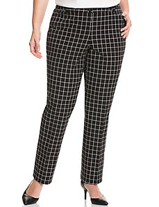 Lena Smart Stretch windowpane pant