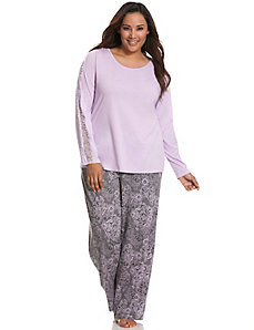 Lace print sleep pant