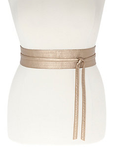 Metallic reversible wrap belt