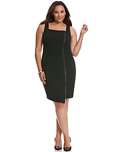 Zipped sheath dress