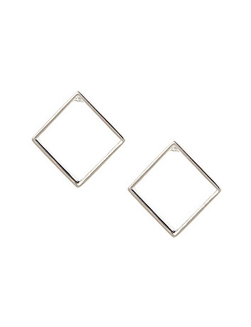 Hollow square earrings by Lane Bryant