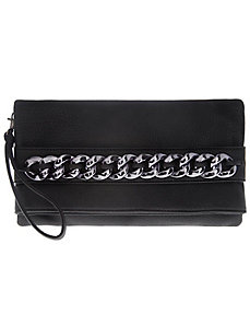 Chain accent convertible handbag by Lane Bryant