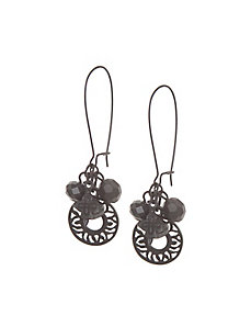 Matte cluster drop earrings by Lane Bryant