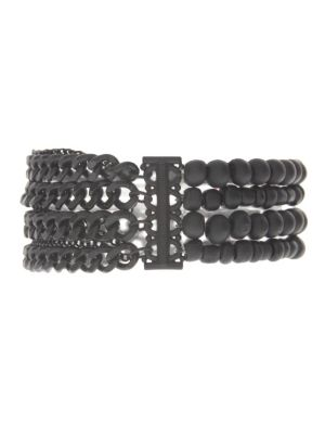 Bead & chain stretch bracelet by Lane Bryant