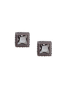 Stone square stud earrings by Lane Bryant