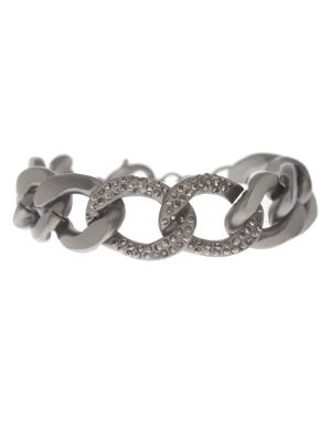 Studded status link bracelet by Lane Bryant