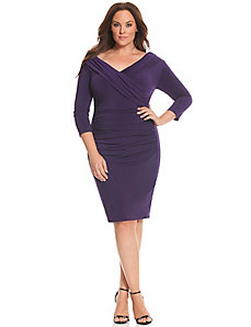 Control Tech slimming portrait neck dress