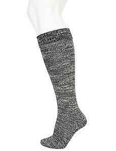 Marled boot socks