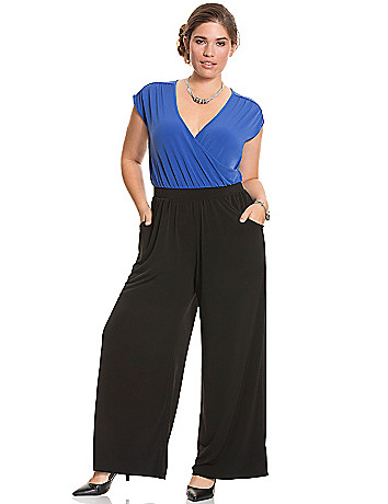 Colorblock jumpsuit by Lane Bryant