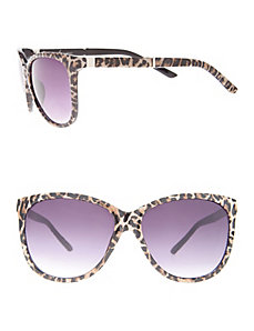 Leopard cat eye sunglasses
