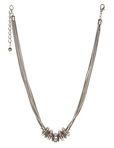 Beaded multi chain necklace by Lane Bryant