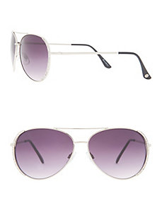 Rhinestone aviator sunglasses