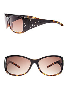 Embellished tortoiseshell sunglasses