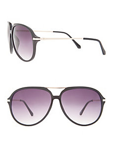 Aviator sunglasses with metal arms