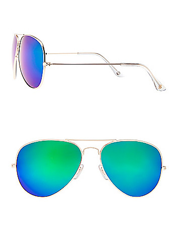 Goldtone aviator sunglasses