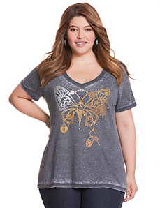 Steam punk butterfly tee