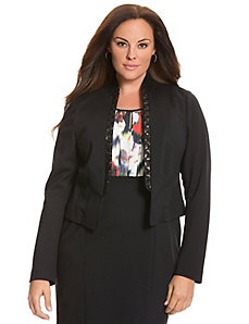 Sequined collar blazer