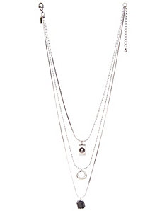 3 row charm necklace by Lane Bryant