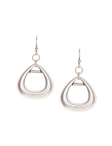 Burnished teardrop earrings by Lane Bryant